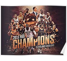 cleveland cavaliers champion NBA 2016 Poster