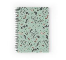 Woodland Berries - Sea Foam Spiral Notebook