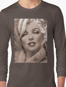 Mucha 2 sepia Long Sleeve T-Shirt