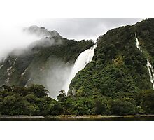 Waterfall - Milford Sound Photographic Print