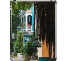 San Juan, Puerto Rico - Gorgeous Caribbean Colors and Flora iPad Case/Skin