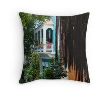 San Juan, Puerto Rico - Gorgeous Caribbean Colors and Flora Throw Pillow