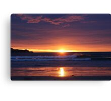 Sunset in the Catlins - New Zealand Canvas Print
