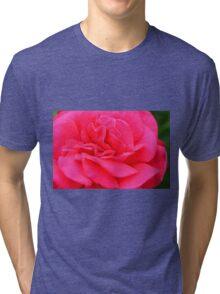 Macro on pink rose. Tri-blend T-Shirt
