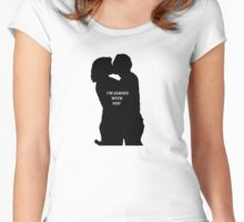 Gleggie - I'M ALWAYS WITH YOU Women's Fitted Scoop T-Shirt