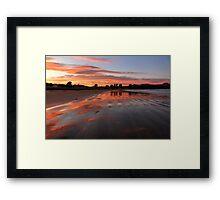 Catlins sunset - New Zealand Framed Print