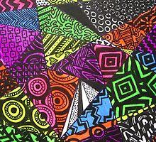 Abstract Fluoro Geometric 1 by Heatherian by Heatherian