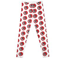 Roller Skate Wheel Red Leggings