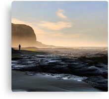 Walking into the mist Canvas Print