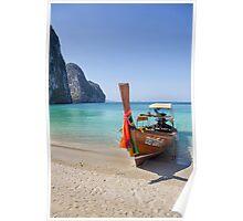 Long Tail Boat Koh Rok Yai Thailand Poster