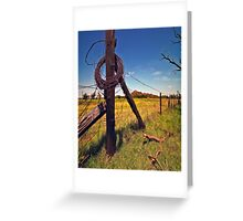 """ Devil`s Rope "" Greeting Card"