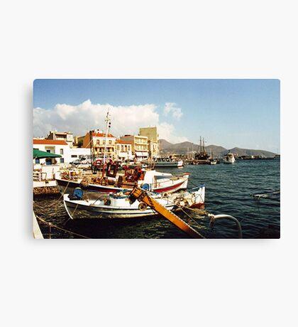St Nikolas, Crete.....! Canvas Print