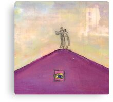 Happy Couple (Dancing on a Mountaintop) Canvas Print