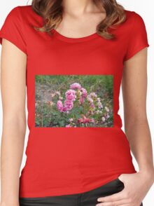 Colorful flowers in the garden. Women's Fitted Scoop T-Shirt