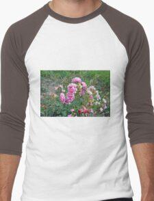 Colorful flowers in the garden. Men's Baseball ¾ T-Shirt