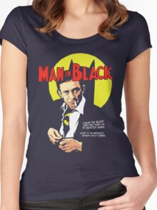 Man In Black Suit Women's Fitted Scoop T-Shirt