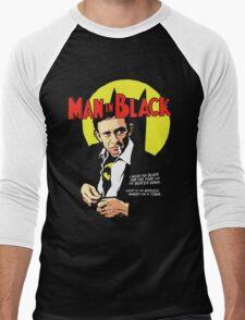 Man In Black Suit Men's Baseball ¾ T-Shirt