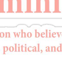 feminist definition Sticker
