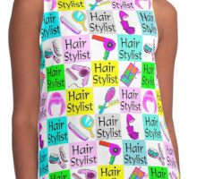 FIERCE AND FABULOUS HAIR STYLIST Contrast Tank