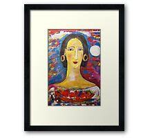 """Isabella with fruit""  Framed Print"