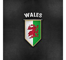 Wales Pennant with high quality leather look Photographic Print