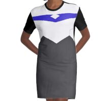 Paladin Armor - Blue Graphic T-Shirt Dress