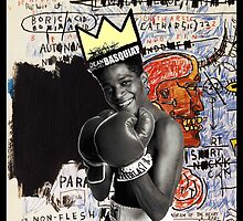 Basquiat (black border) by adam mazzarella