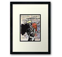 Basquiat (black border) Framed Print