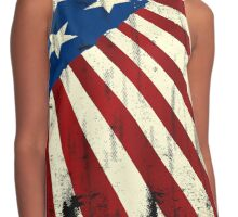 Patriotic America Grunge Flag  Contrast Tank