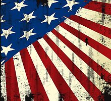 Patriotic America Grunge Flag  by CroDesign