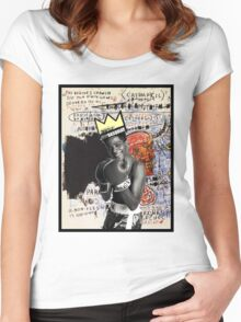 Basquiat (black border) Women's Fitted Scoop T-Shirt