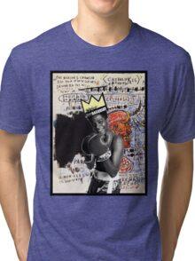 Basquiat (black border) Tri-blend T-Shirt