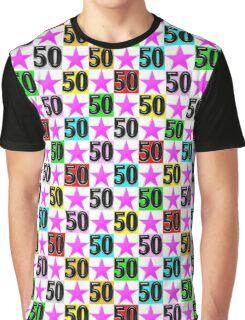 50TH PINK SUPER STAR DESIGN Graphic T-Shirt