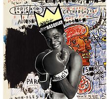 basquiat (white border) by adam mazzarella