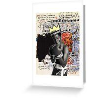 basquiat (white border) Greeting Card