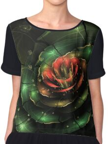 Breathe - Abstract Fractal Artwork Chiffon Top