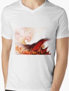 Flow - Abstract Fractal Artwork Mens V-Neck T-Shirt