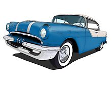 55 Pontiac Blue 02 by LawrenceA