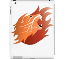 Fire Lion - Revisited (White Back) iPad Case/Skin