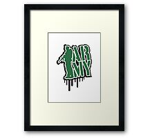 ARMY soldier stamp graffiti design Framed Print