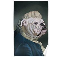 Pup Portrait with Lace Jabot Poster