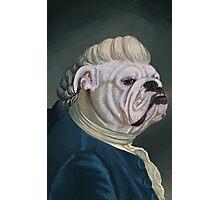 Pup Portrait with Lace Jabot Photographic Print