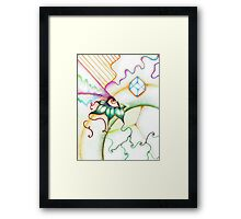 Abstract Rainbow Eye Framed Print