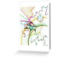 Abstract Rainbow Eye Greeting Card