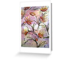 Bush Flowers 2 portrait view by Heather Holland Greeting Card