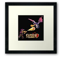 WIZARD VS DRAGON COC Framed Print