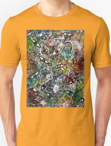 Abstract Psychedelic Geometric Eyes Unisex T-Shirt