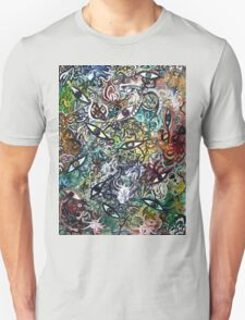 Abstract Psychedelic Geometric Eyes T-Shirt