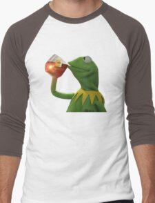 KERMIT THE FROG SIPPING TEA JAMES LEBORN CLEVELAND CAVALIERS Men's Baseball ¾ T-Shirt