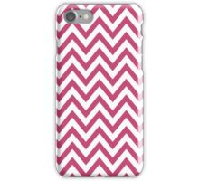 Chic chevron pattern, fuchsia rose iPhone Case/Skin